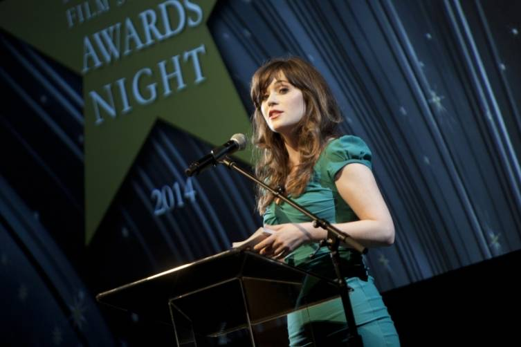 Zooey Deschanel at Film Society Awards Night at the 57th San Francisco International Film Festival  Credit Tommy Lau, courtesy of San Francisco Film Society