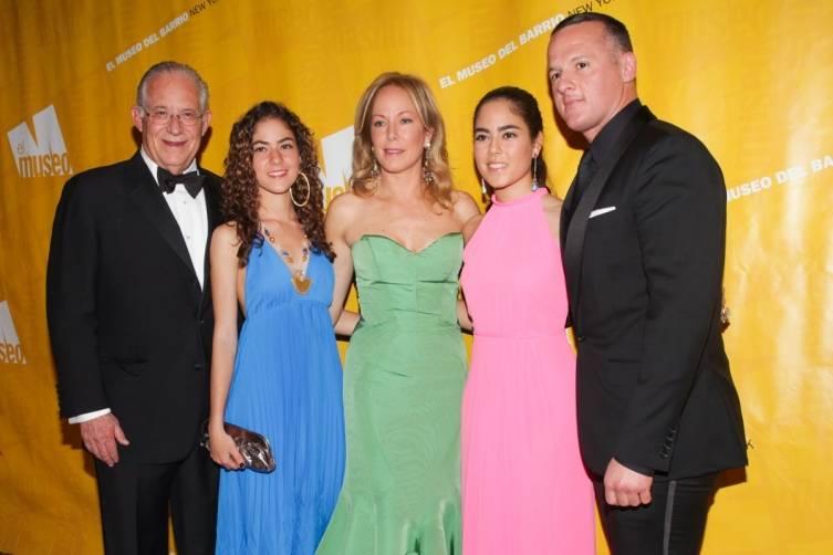 Dr. William A. Haseltine, Camila Arria, Manuela Arria, Maria Eugenia Maury, and Alejandro Ingelmo