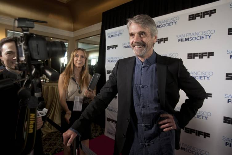 Jeremy Irons, recipient of the Peter J. Owens Award, at Film Society Awards Night at the 57th San Francisco International Film Festival