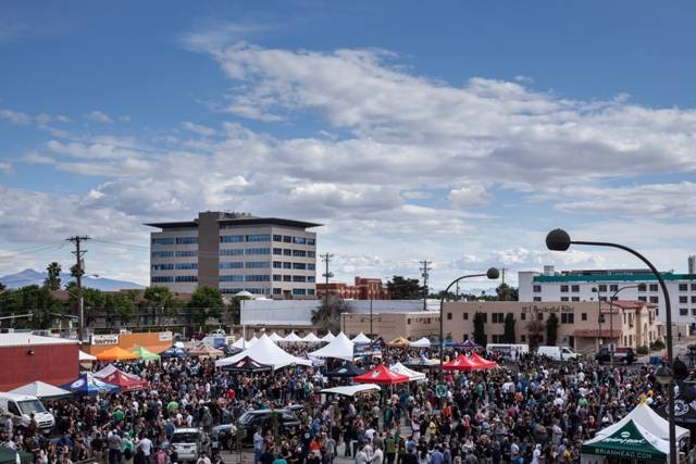 Thousands of beer lovers crowd the streets of Downtown's Fremont East Entertainment District during the 2014 Great Vegas Festival of Beer. Photos: Fred Morledge