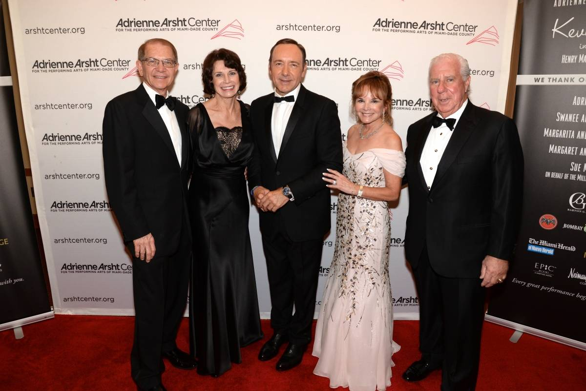 Gala Sponsors Mike and Margaret Eidson, Gala Chairs Paul and Swanee DiMare, Kevin Spacey