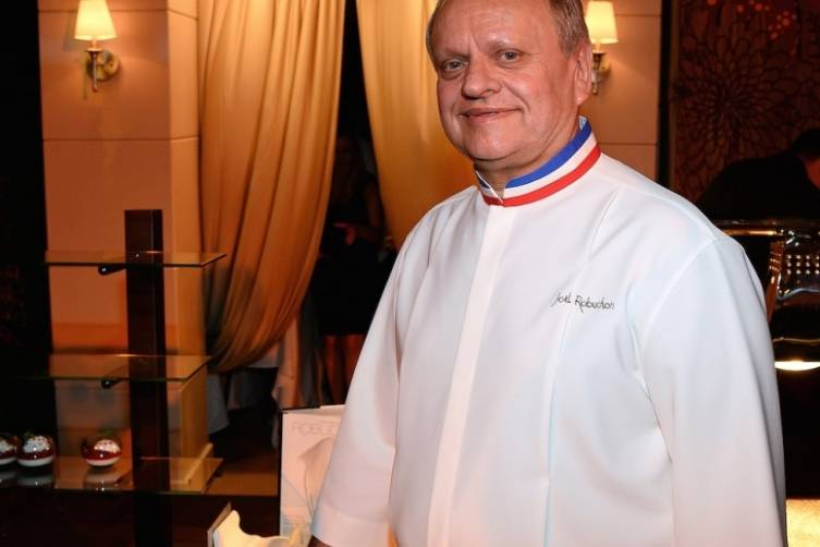 Joel Robuchon at The Grand Tasting (credit Ethan Miller for Bon Appetit)