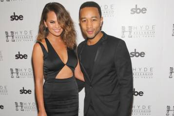 John Legend & Chrissy Teigen at Hyde Bellagio, Las Vegas, 5.17.14 (photo credit – Hyde Bellagio)