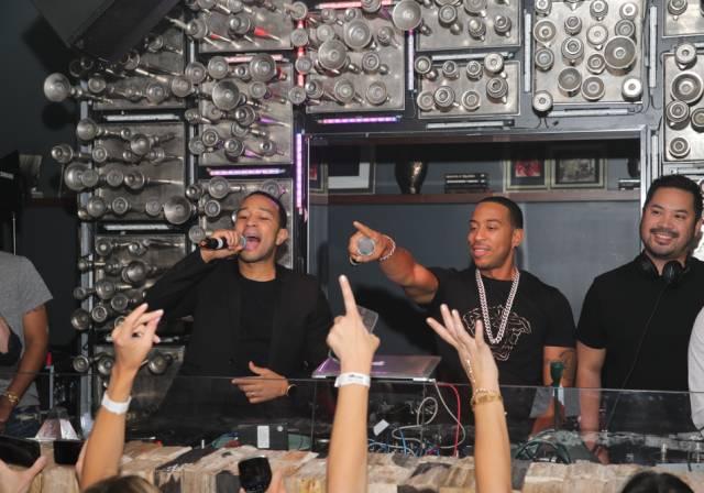 John Legend & Ludacris perform at Hyde Bellagio, Las Vegas, 5.17.14 (photo credit - Hyde Bellagio)