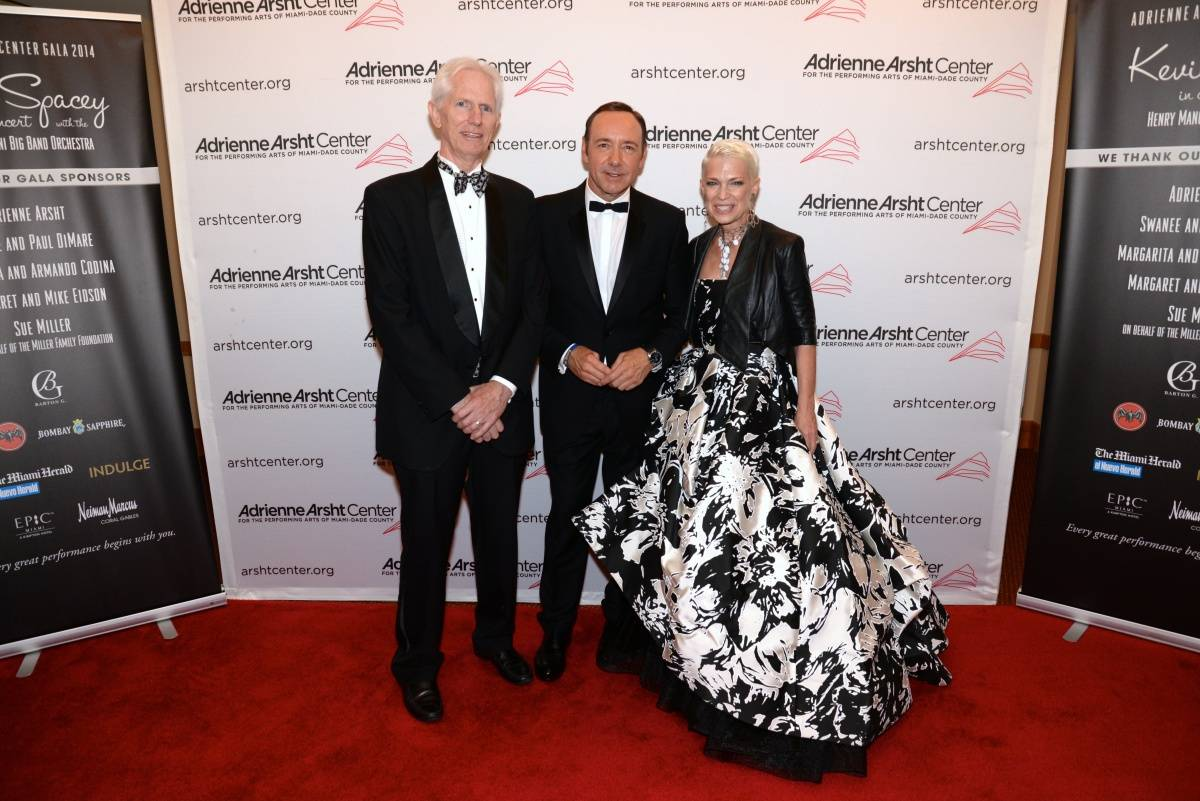 John Montgomery and Carol Coletta with Kevin Spacey - photo Manny Hernandez