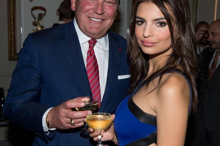 John Unwin and Emily Ratajkowski at Condé Nast Traveler's Hot List Party...