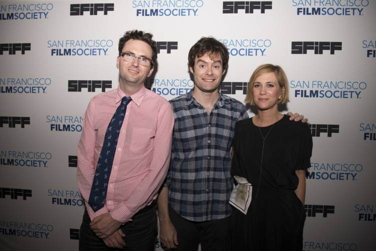 Craig Johnson, director of THE SKELETON TWINS, with stars Bill Hader and Kristin Wiig at the 57th San Francisco International Film Festival