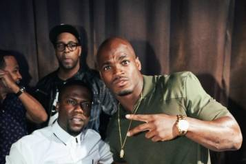 Kevin Hart and Adrian Peterson at Vanity Nightclub_Photo Credit Adam Amar