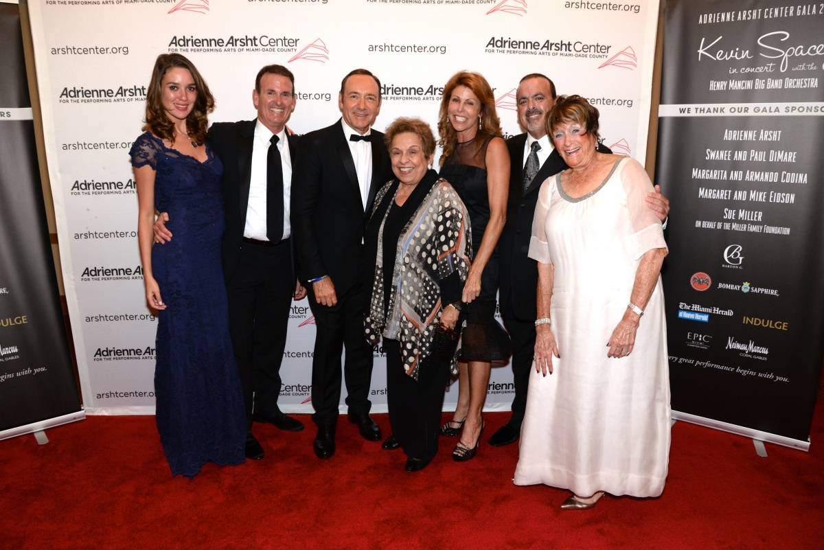 Kevin Spacey with Atalita Morais, Leslie Saiontz, Jeff, Stuart, Sue Miller and Donna Sha