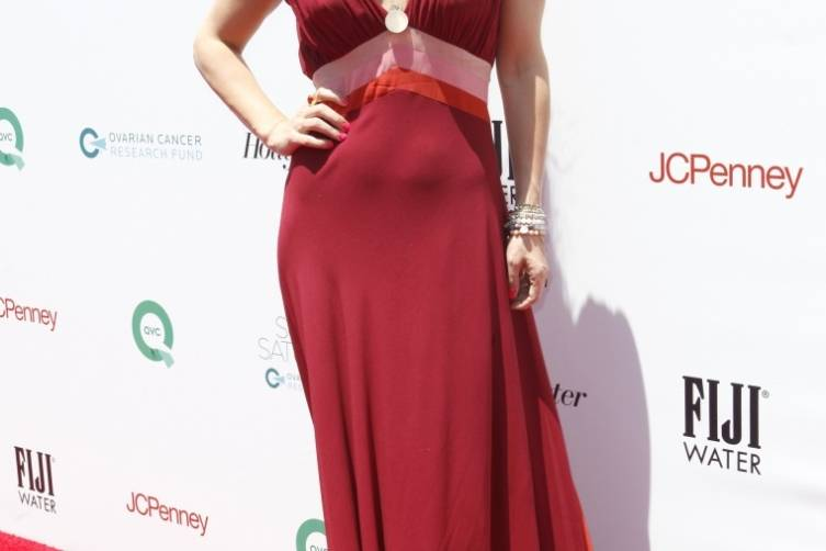 Molly Sims on the red carpet at Super Saturday LA