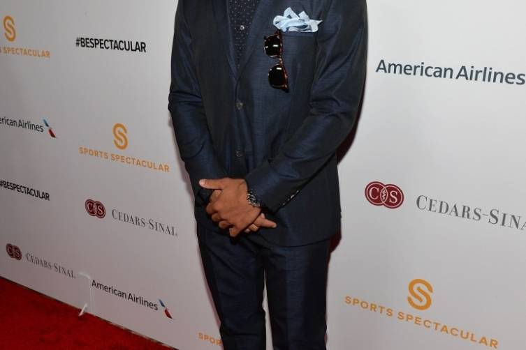 NFL quarterback Russell Wilson arrives on the red carpet at the 2014 Sports Spectacular Gala (Alberto E. Rodriguez,Getty Images)