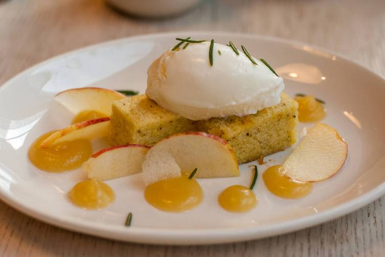 Charlie Bird | Winesap Apple Olive Oil Cake with Mascarpone & Salty ...
