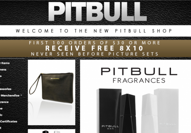 Pitbull's New Online Shop