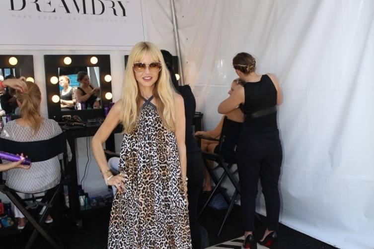 Rachel Zoe at Super Saturday LA infront of Dream Dry Salon