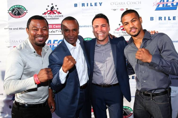 SMosely SRL Oscar SMoselyJr at t SRL Foundation Charity Boxing Night - Getty