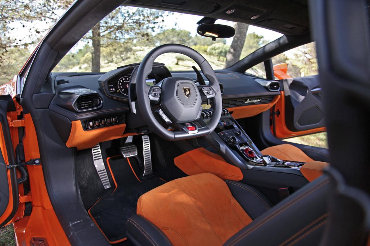 lamborghini huracan - Lamborghini Huracan Orange Interior