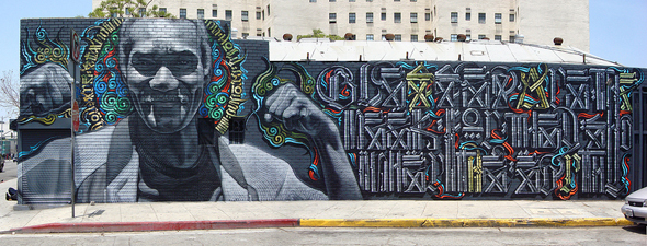 Skid Row Retna Mural