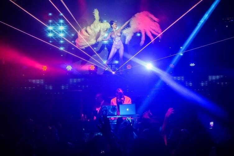 Snoop Dogg DJs at TAO Nightclub