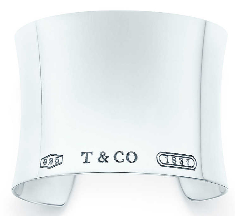Tiffany & Co. 1837 ultra wide cuff in sterling silver, $1050, available at Tiffany & Co. Beverly Hills or tiffany.com