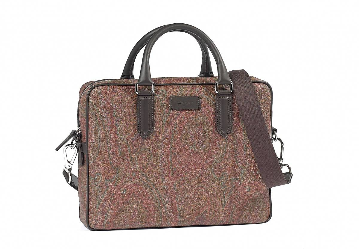 Etro Paisley Leather Briefcase, $1,160