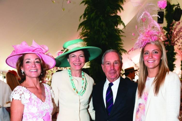 Anne Harrison, Diana Taylor, Michael Bloomberg, and Katie Harrison