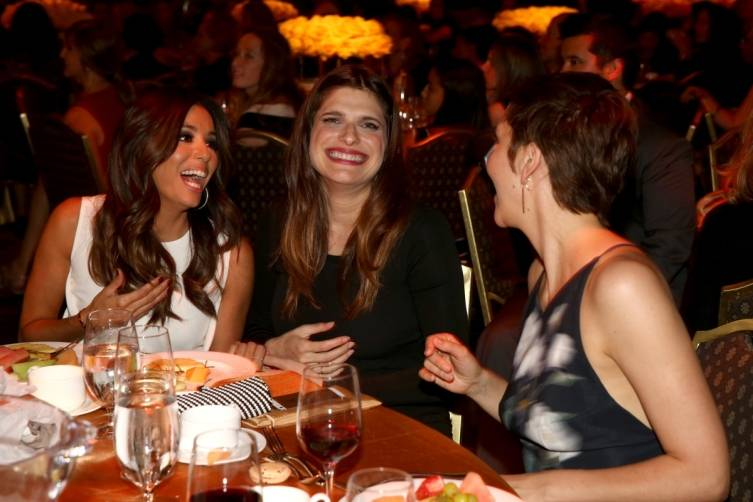 Eva Longoria Lake Bell Maggie Gyllenhaal at WIF 2014 Crystal + Lucy Awards presented by MaxMara, BMW, Perrier-Jouet, South Coast Plaza - Getty Images
