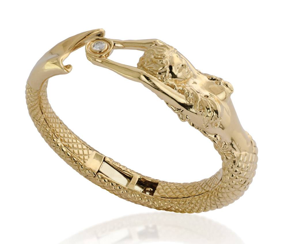 Gold-Mermaid-Bangle