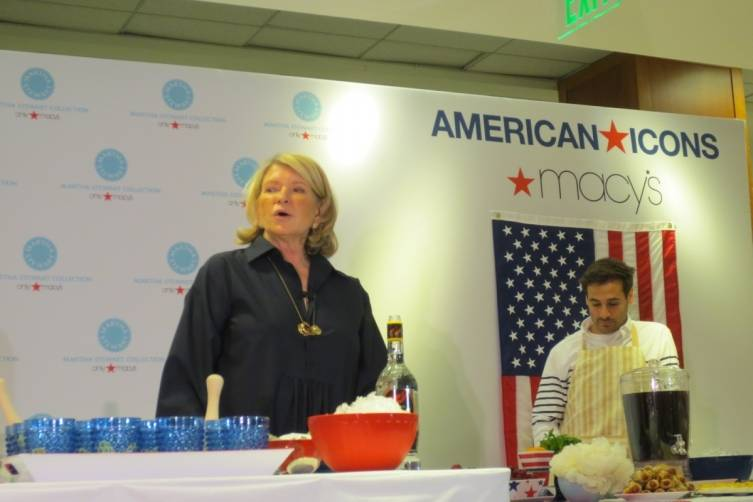 Martha Stewart Macy's Union Square American Icon
