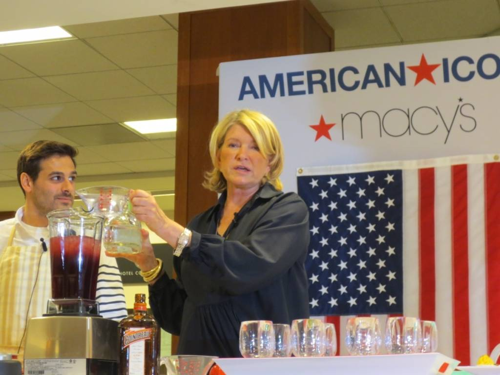 Martha Stewart at Macy's Union Square