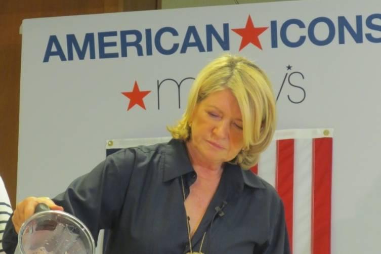 Martha Stewart Pours her Pomegranate Margarita
