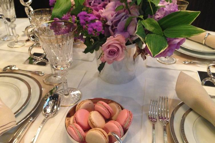 Laduree Macarons and Zeze Flowers