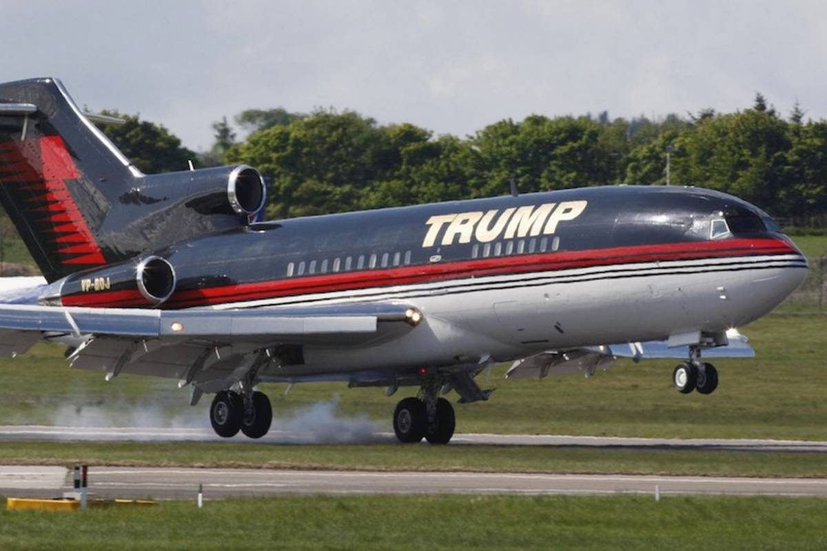 A Peek Inside Donald Trumps 100 Million Private Jet