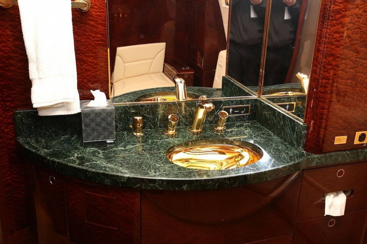 The Trump private jet's luxe en suite