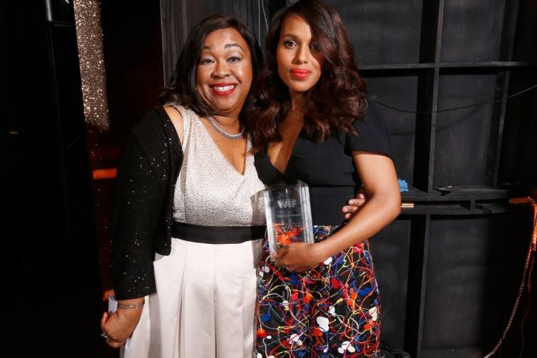 Kerry Washington and Shonda Rhimes at WIF 2014 Crystal + Lucy Awards presented by MaxMara, BMW, Perrier-Jouet, South Coast Plaza - Getty Images