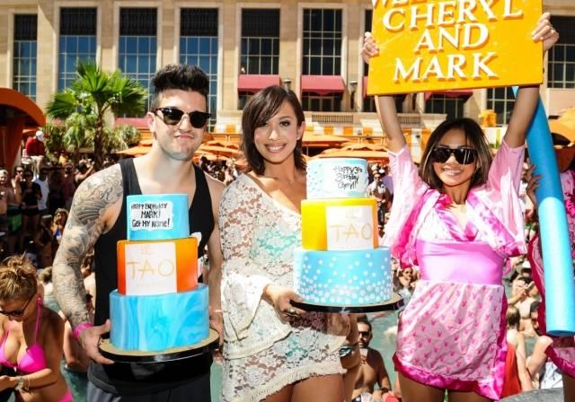 Mark Ballas and Cheryl Burke Birthday Cake Presentation at TAO Beach. Photos: Brenton Ho/Powers Imagery