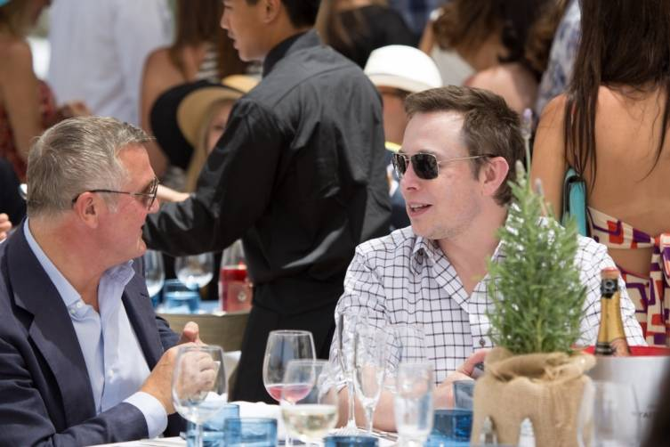 Olivier de Givenchy and Elon Musk