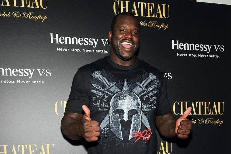 Shaq on the red carpet at Chateau Nightclub & Rooftop