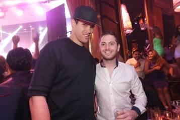 XS nightclub – Kris Humphries and Josh Ketroser – photo credit Danny Mahoney