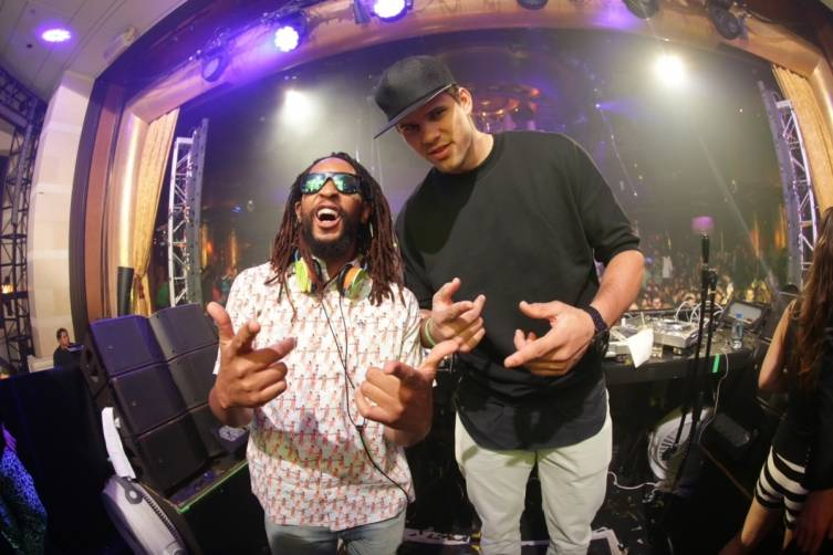XS nightclub - Kris Humphries and Lil Jon - photo credit Danny Mahoney