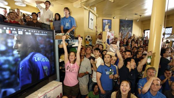 Fans Watch U.S. Play Italy In The FIFA World Cup