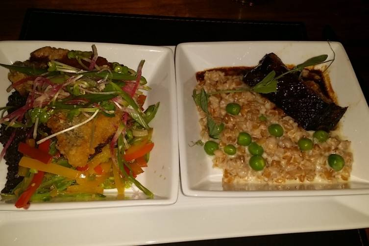 Tapioca Crusted Yellowtail Snapper