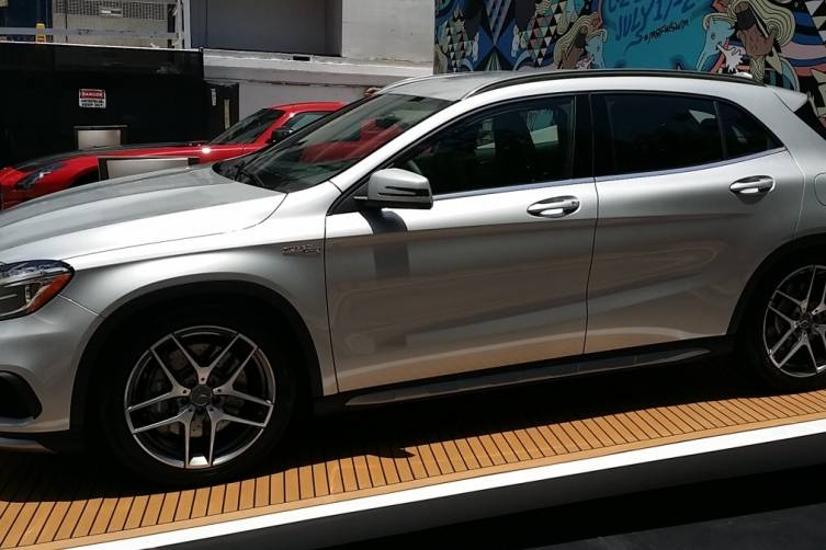 Mercedes GLA at Mercedes Benz Fashion Week Swim