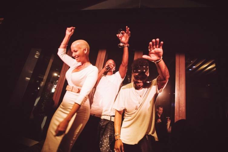Amber Rose, Jamie Foxx, and Miguel 2