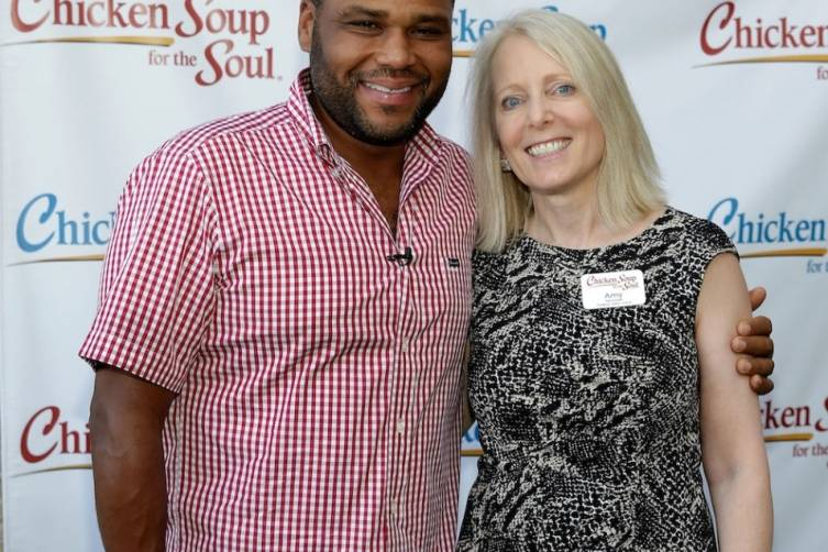 Anthony Anderson and Chicken Soup for the Soul Author Amy Newmark at book launch Las Vegas, 7.23.14