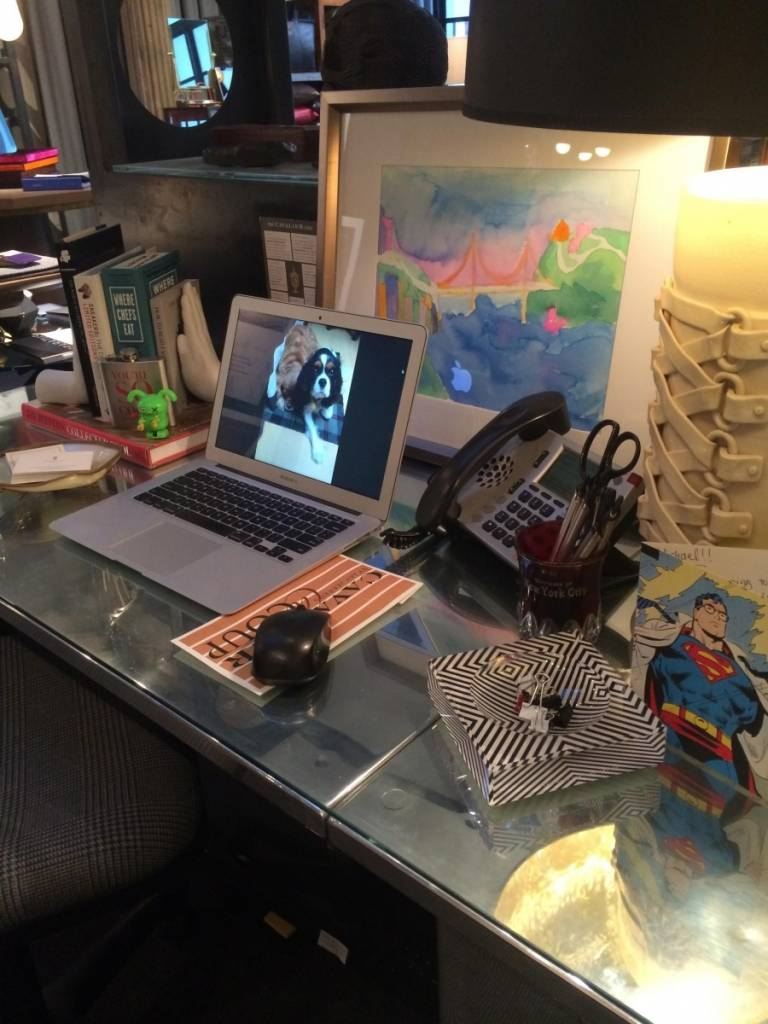 Michael Purdy's Desk at Cavalier in San Francisco