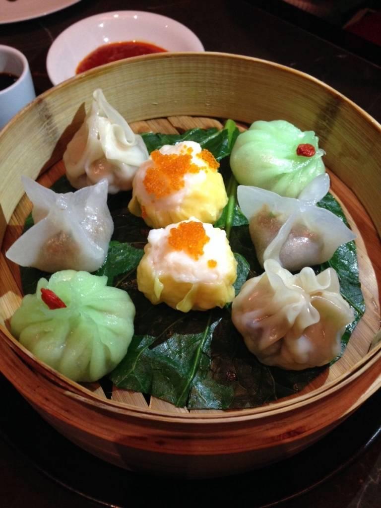 Dumplings at Hakkasan