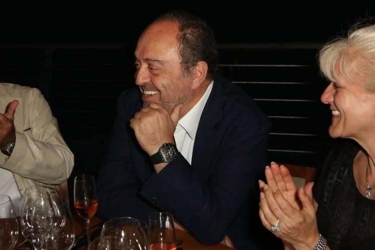 John Simonian shows off his watch