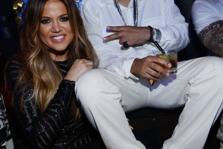 Khloe Kardashian and French Montana at TAO