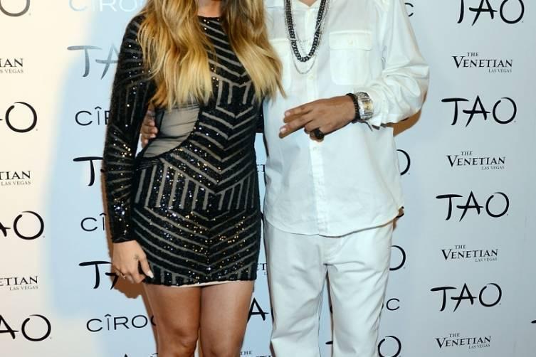 Khloe Kardashian and French Montana_TAO Red Carpet