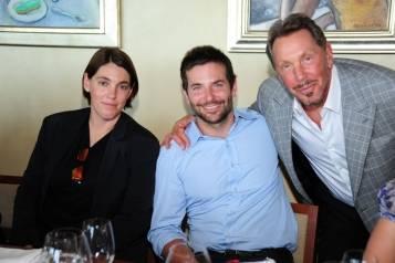 Megan Ellison, Bradley Cooper & Larry Ellison